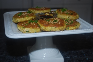 Garlic Ginger Tofu Cakes