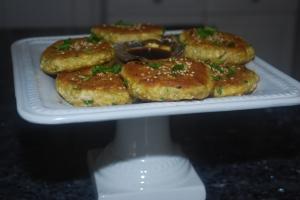 Garlic Ginger Tofu Cakes