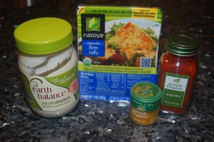 ingredients for tofu eggless salad